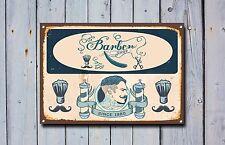 NEGOZIO DI BARBIERE SIGN, metallo segno, Negozio di barbiere segni, stile vintage, Barbers segno 812