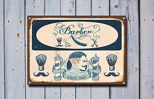 Barber Shop Sign, Metal Sign, Barber Shop Signs, Vintage Style, Barbers Sign 812