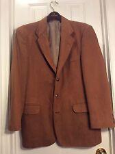 Norm Thompson Men Brown/Tan Moleskin Suede Blazer Suit Sport Coat Jacket 41R