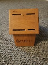 Cutco Wooden Cutlery Knife Block 4 Slots Knife Holder U.S.A.
