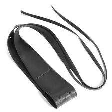Trendy Women Belt Soft Leather Wide Self Tie Wrap Around Waist Band Dress Belt