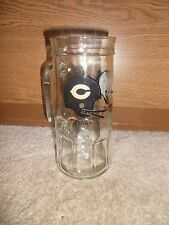 CHICAGO BEARS NFL FOOTBALL BEER MUG GLASS OLD SCHOOL VINTAGE FACEMASK FISHER NUT