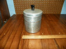 Vintage Aluminum Kitchen Coffee Canister - Made In Italy