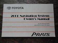2001 Toyota  Prius  Navigation Owners Manual