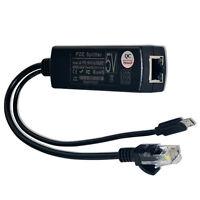 Active PoE Splitter Power Over Ethernet 48V to 5V 2.4A Micro USB 4 Raspberry DE