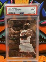 1995-96 Fleer Metal #13 Michael Jordan Chicago Bulls - PSA 9