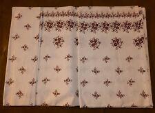 DDR Bettlaken Baumwolle weiß mit braunen Blumen um 1970 140 x 220 cm