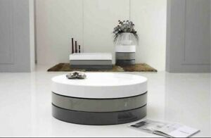 Luxury Modern 3 Tones Round Coffee Table - Local Pick-up Only