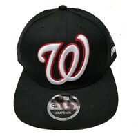 Washington Nationals New Era 9Fifty Black XL Logo Field Snapback Hat Cap