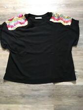 Zara Trafaluc T-shirt Manches Courtes Noir Taille M