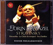 MAAZEL Stravinsky Petrouchka le chant TU Rossignol feu dartifice CD Lorin RCA