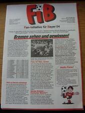 13/05/1983 Bayer Leverkusen v Werder Bremen (Stadion Kuirier Issue Dated 10/05/1