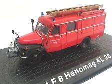 LF8 Hanomag AL28 Camión bomberos fire truck 1/72 ATLAS Diecast
