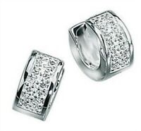 Elements 6mm Polished Sterling Silver Men's CZ Huggie Hoop Cuff Earring [single]