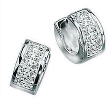 Elements 6mm Polished Sterling Silver Men's CZ Huggie Hoop Cuff Earring [single]