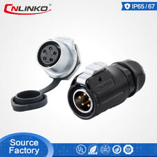 Cnlinko M20 Male Female Waterproof 12A 5Pin Power Connector LED Display Lighting