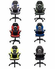 Sedia gaming ergonomica in tessuto ufficio casa regolabile ruote girevoli racing