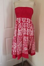 size 20 deep pink strapless dress debenhams brand new