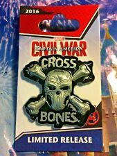 CROSS BONES Pin Marvel Captain America Civil War 2016 Iron Man Disney Avengers