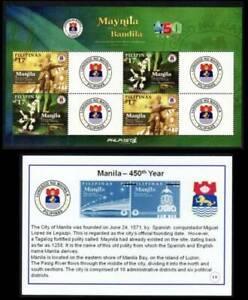 Philippines SK – 2021 City of Manila 450th Generic MS/4, MNH, OG, F-VF