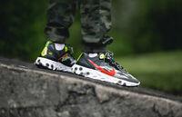 Nike React Element 87 OLIVE, CRIMSON, BLACK & VOLT