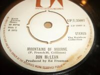 """DON MCLEAN """" MOUNTAIN OF MOURNE """" 7"""" SINGLE IRELAND UP(I) 35607 VG 1973"""