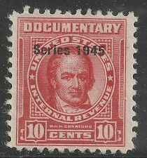 U.S. Revenue Documentary stamp scott r417 - 10 cent issue of 1945 - mng