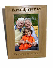 Grandparents Wooden Photo Frame 6x8 - Personalise This Frame - Free Engraving