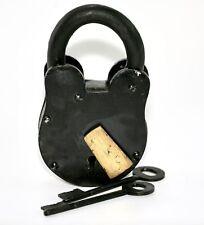 """Antique Style Padlock and Skeleton Key Set  5"""" Large Size Love Lock"""