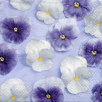 4 Motivservietten Servietten Napkins Tovaglioli Blumen Blüten Lila (864)