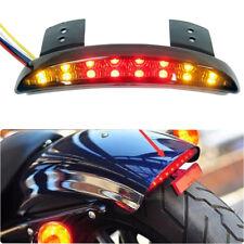 Rear Fender LED Stop Turn Signals Tail Light Smoke Lens For Harley Honda Custom