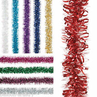 2m Luxury Christmas Tree Bubble Loop Foil Tinsel Garland Decoration Listing