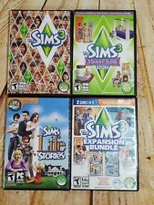 Lot of 4, Sims 3, Expansion Packs Games Windows Mac DVD-ROM Life Stories