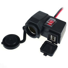 Waterproof 2USB Motorcycle Cell Phone GPS Power Supply Socket Charger For KTM