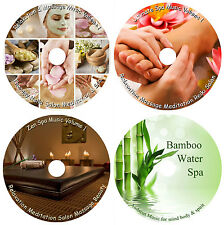 Relaxation & Massage Music - Spa Salon Stress Relief Deep Sleep Healing X 4 Cd's