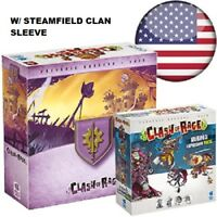 CLASH OF RAGE :STEAMFIELD +(3) KICKSTARTER EXCLUSIVE EXPANSIONS NEW/ SHIP$0/INTL