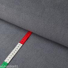 Fleece Stoff Uni Einfarbig Grau - Polarfleece Vlies - Lambskin Stoff Winter