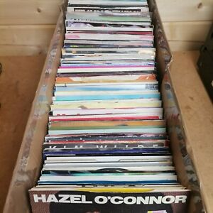 """RECORD COLLECTION 30 X 7"""" VINYL RECORDS ALL 80s 90s PICTURE SLEEVE POP MUSIC"""