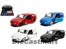 Jada 1:32 JDM Tuners 1990 Mazda Miata Hardtop Display Black / Blue/ White / Red