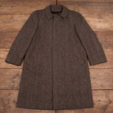 "Mens Vintage Crombie Grey Pure New Wool Lined Over Coat XL 46"" R6489"