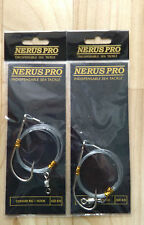 2 X NERUS CONGER RIGS 8/0 SEA FISHING BOAT ROD WRECKING LURES HUSS TOPE LING COD