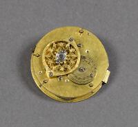 Frühes Taschenuhr Uhrwerk f. Spindeluhr kleines Spindeluhrwerk f. Uhrmacher Uhr