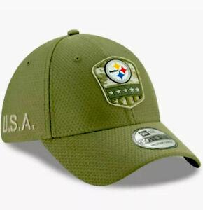 "New Era NFL Pittsburgh Steelers ""SALUTE TO SERVICE"" 39THIRTY Hat Sz Medium/Large"