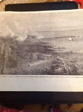 J1-8 1863 Picture American Civil War Fort Mcallister Shelled By Federal Ships