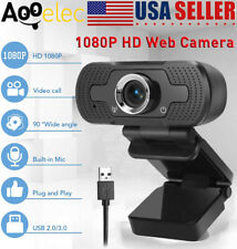 Real HD 1080P Webcam USB 2.0 Auto Focusing Web Camera+Built-in Mic For PC Laptop