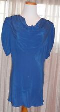 ROYAL BLUE FAB TOP, ZIPPER IN TE BACK, PERFECT FOR ALL OCCASIONS , M