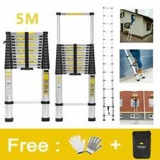 5M Multi-Purpose Aluminium Telescopic Ladder Extension Extendable Ladder EN131 A