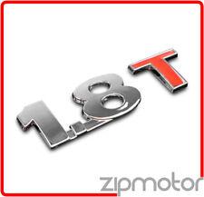 AUDI/VW 1.8T TURBO TRUNK EMBLEM BADGE STICKER CHROME/RED A3 A5 TT BEETLE PASSAT