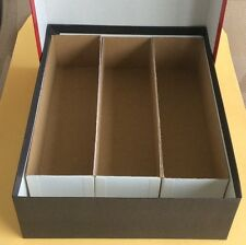"New Red Triple Row Coin Storage Box For 2"" x 2"" Holders 2 3/4"" X 7 3/4"" X 10"""