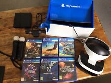 PS4 PlayStation 4 VR (PSVR) Bundle Headset, Camera, Move Controllers And Games.